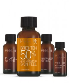 Peel RX Brighten 50% AHA Vitamin C Skin Peel Kit